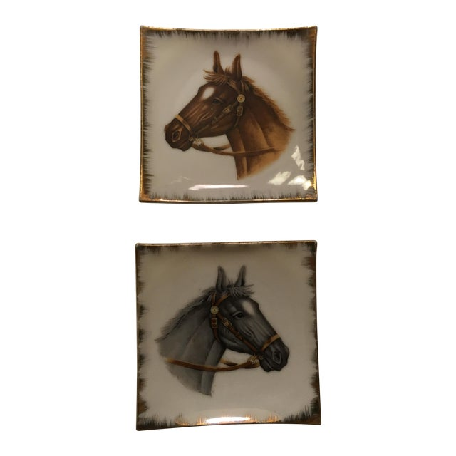 Vintage Empress China Horse Head Dishes - Pair - Image 1 of 9