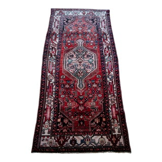 "Antique Persian Heriz Serapi Rug - 3'10"" x 8'7"""