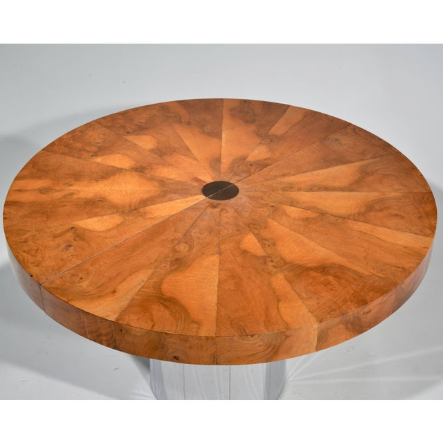 Metal Paul Evans Burl Wood Cityscape Dining Table For Sale - Image 7 of 11