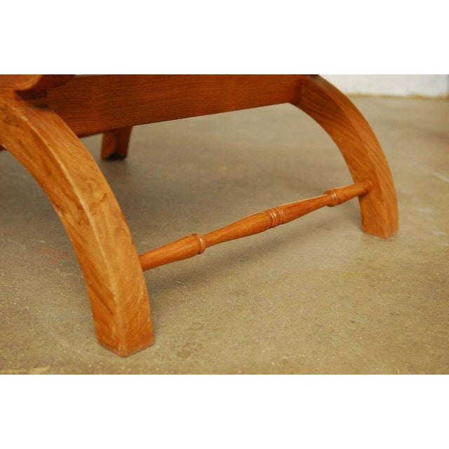 Mid 20th Century Anglo-Indian Teak and Cane Plantation Chair For Sale - Image 5 of 13