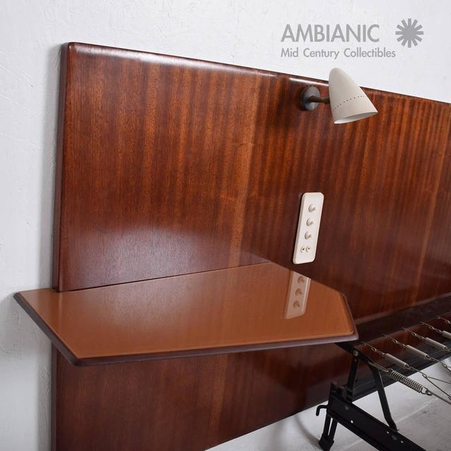 Bronze Mid-Century Modern Italian Bed Frame For Sale - Image 7 of 10