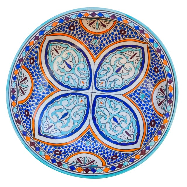 Early 20th Century Andalusian Motif Ceramic Bowl For Sale - Image 5 of 9