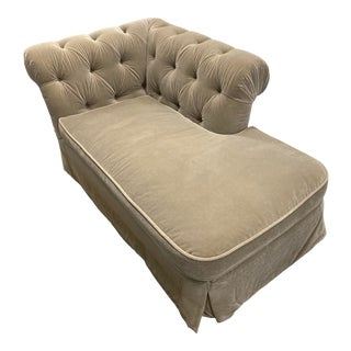Grafton Furniture Tufted Chaise Lounger For Sale