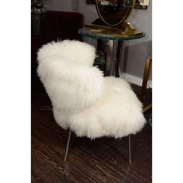 High End Custom Mongolian Lamb Chair Decaso