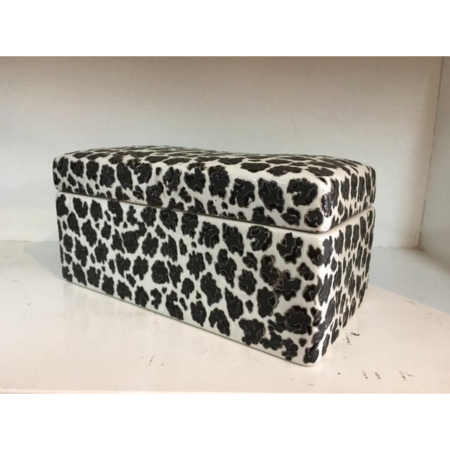 Animal Print Porcelain Black & White Box - Image 2 of 5