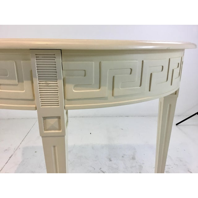 Modern Ave Home Modern Ivory Wood Athena Demi-Lune Console Table For Sale - Image 3 of 5