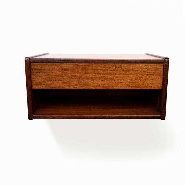 Danish Modern Vintage Danish Modern Rosewood Floating Shelves, Pair C. 1960's For Sale - Image 3 of 6