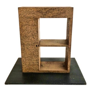1970s Vintage Iron Brutalist Abstract Sculpture For Sale