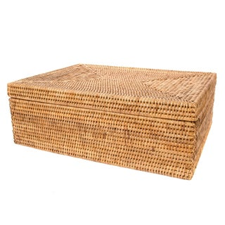 Artifacts Rattan Storage Box With Lid For Sale