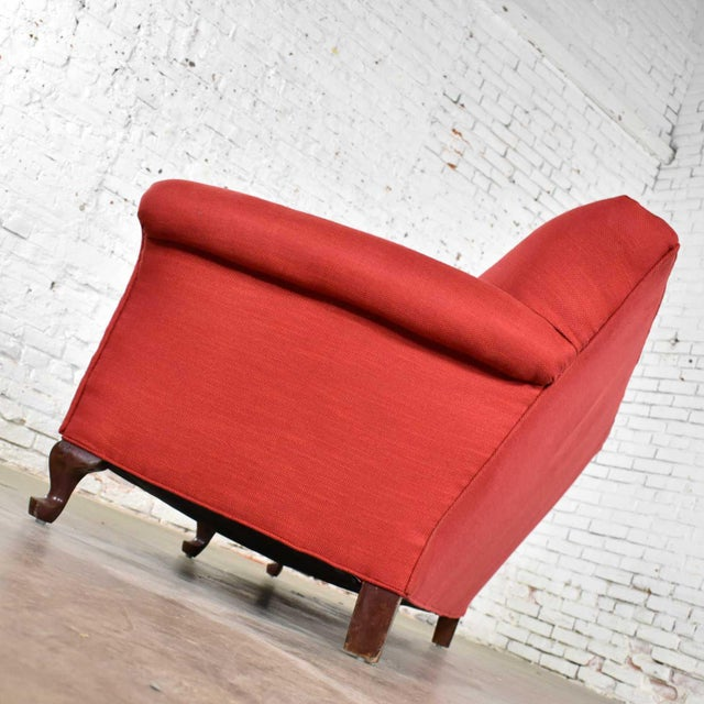 Red Smaller Size Lawson Sofa With Rolled Arms Down Bench Seat and Tight Back For Sale - Image 6 of 13