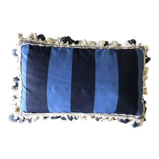 Custom Schumacher Tassel Trim Decorative Lumbar Throw Pillow For Sale