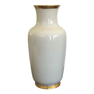 1950s Gerold Porzellan Gold Trim Vase For Sale