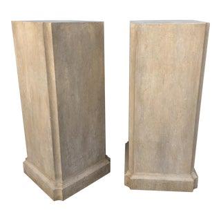 Faux Stone Column Pedestals - a Pair