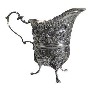 19th Century Simon Rosenau German 800 Silver Footed Milk Jug Creamer