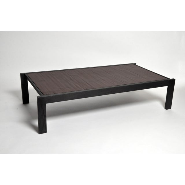 Custom Bamboo Top Coffee Table For Sale - Image 13 of 13