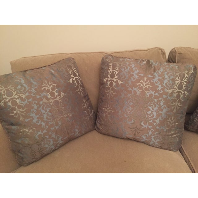 Baker Silk Jacquard Pillows - Set of 3 For Sale In San Francisco - Image 6 of 6