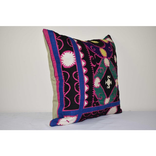 """These beautiful 24"""" x 24"""" pillow covers were made from an authentic, vintage Turkish rug handwoven in the 1960s. Bright..."""