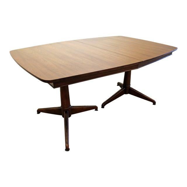 MidCentury Danish Modern Kent Coffey Perspecta Pedestal Leg - Mid century pedestal dining table