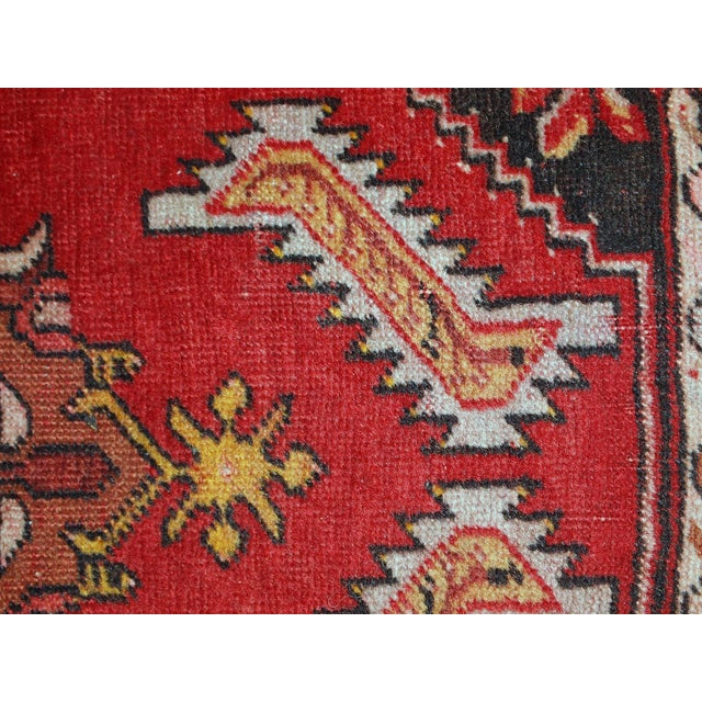 1960s, Handmade Vintage Turkish Yastik Rug 1.6' X 3.1' For Sale - Image 11 of 12