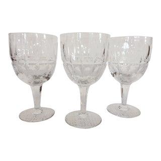 Stuart Crystal Water Goblets - Set of 3 For Sale