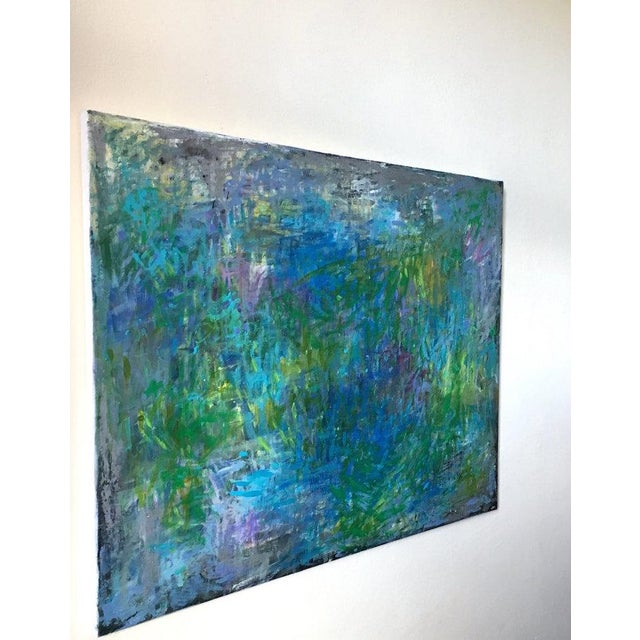 "Jenny Vorwaller ""Fields"" Abstract Painting - Image 3 of 4"