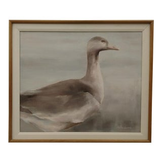Mase Lucas Painting of a Portrait of a Goose, Vintage For Sale