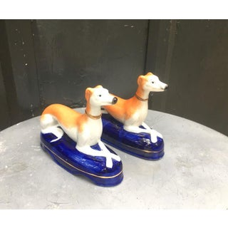 1950s Vintage Ceramic Greyhound Bookends - a Pair Preview