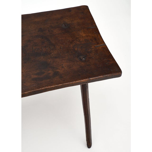 Italian Farm Wood Side Table For Sale In Austin - Image 6 of 10