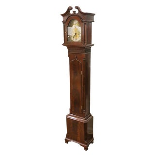 19th Century Vintage English Georgian Tall Case Grandmother Clock For Sale