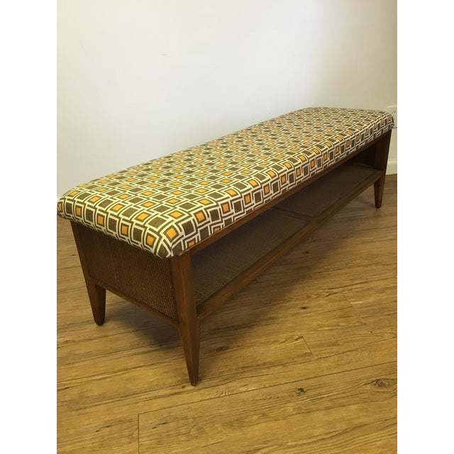 Mid Century Modern Upcycled Bench - Image 2 of 5