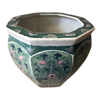 """Vintage Chinoiserie 8""""Cachepot For Sale"""