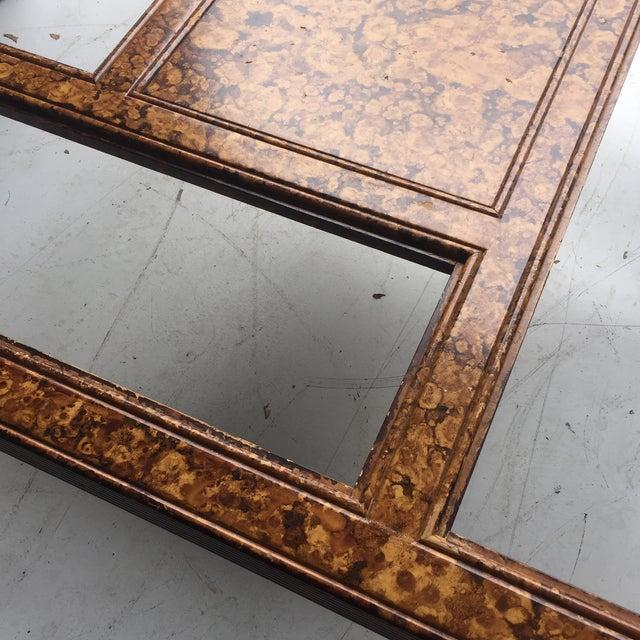 Tortoiseshell Burnt Bamboo Design Table For Sale - Image 5 of 5