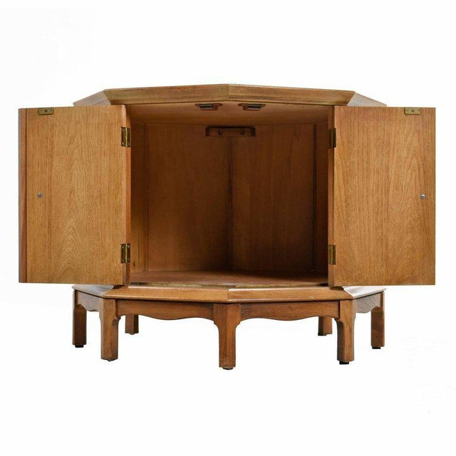 """This Mid-Century Modern """"Horizon"""" octagon cabinet by Thomasville would be perfect in a living room as an end table or in..."""