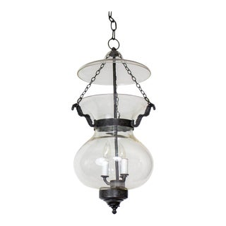 Late 20th Century Traditional Bell Jar Lantern For Sale