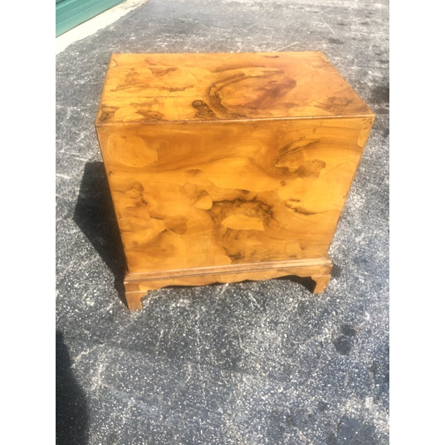 Italian Olive Burl Wood Chest of Drawers For Sale - Image 10 of 12