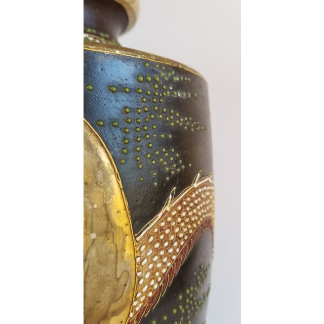 Red Early 20th Century Satsuma Century Japanese Vase For Sale - Image 8 of 13