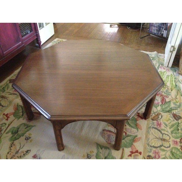 Wooden Octagon Shape Coffee Table - Image 3 of 7