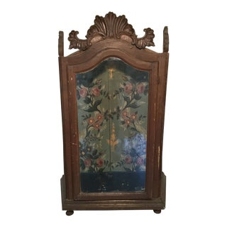 19th C. Carved Relic Cabinet for the Tabletop For Sale