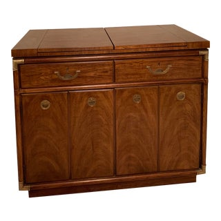 Henredon Rolling Buffet Cabinet or Dry Bar For Sale
