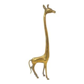 Mid Century Brass Giraffe For Sale