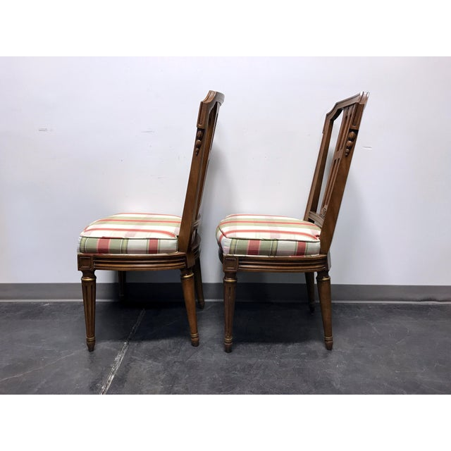 Brown HENREDON Capri Mid Century Italian Provincial Neoclassical Dining Side Chairs - a Pair For Sale - Image 8 of 11