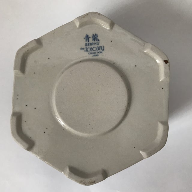 Ceramic Blue & White Porcelain Vessel For Sale - Image 7 of 11