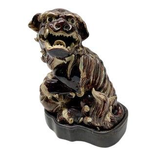 20th Century Foo Dog Ceramic Statue For Sale