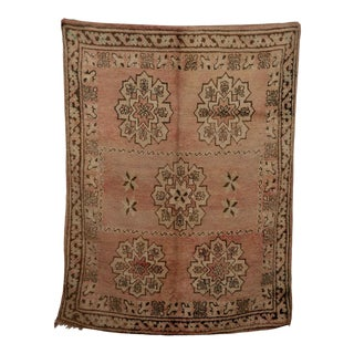"Boujad Vintage Moroccan Rug, 5'0"" X 7'7"" Feet For Sale"