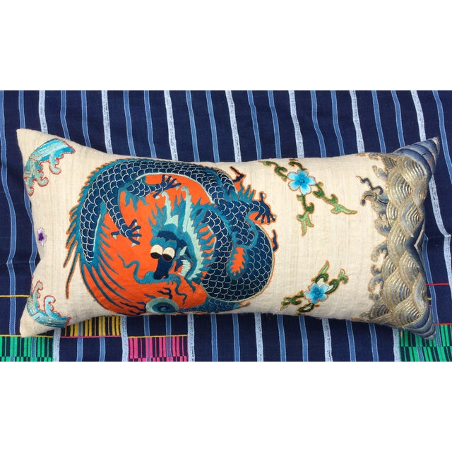 Chinese Emperor's Opera Robe Dragon Pillow - Image 3 of 8
