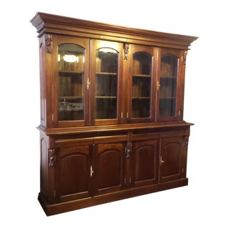 Victorian Mahogany Library Bookcase For Sale