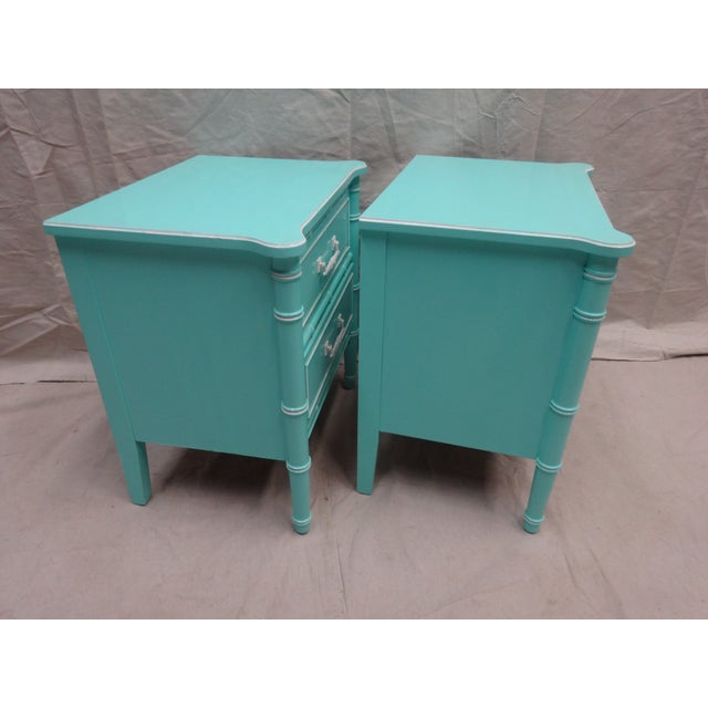 Vintage Bamboo Night Stands - Image 6 of 7