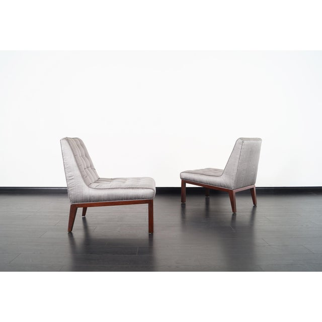 1950s Dunbar Slipper Chairs by Edward J. Wormley For Sale - Image 5 of 9