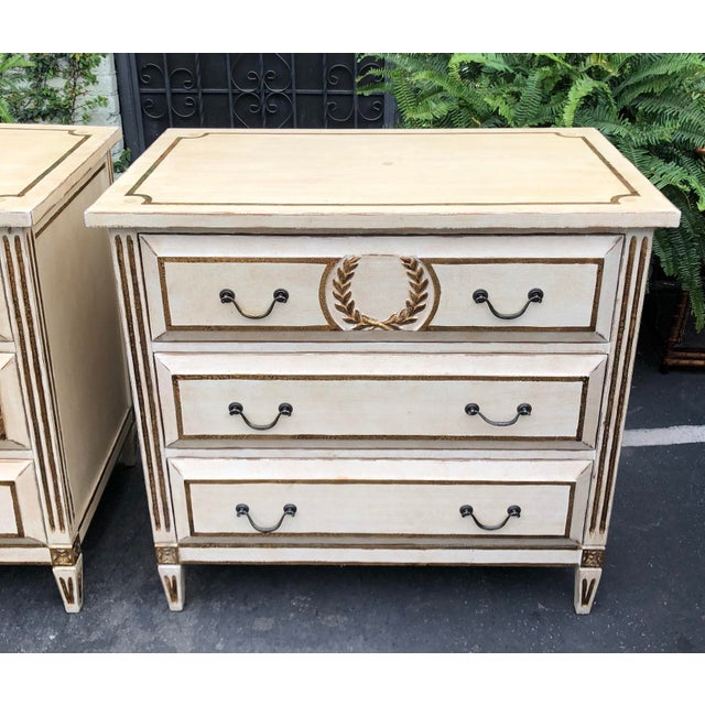 Nancy Corzine Pair of Nancy Corzine Designer Commodes or Nightstands For Sale - Image 4 of 5