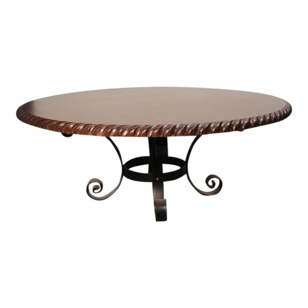 """Mediterranean Old World 78"""" Round Dining Table For Sale"""